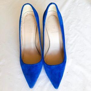 J. Crew Shoes - Jcrew Pumps Heels Electric Blue Bluebird 6.5